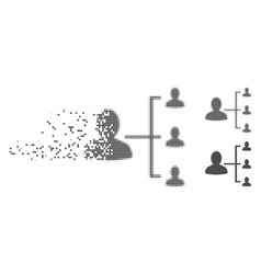 dissipated pixel halftone user scheme icon vector image