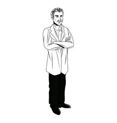 Doctor man professional practicioner standing vector