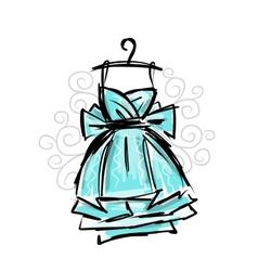 Dress on hangers sketch for your design vector image