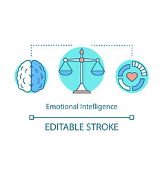 Emotional intelligence concept icon vector