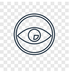 eye concept linear icon isolated on transparent vector image