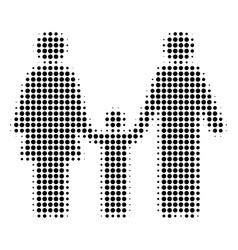 family child halftone icon vector image