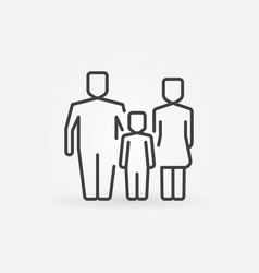 Family outline icon vector