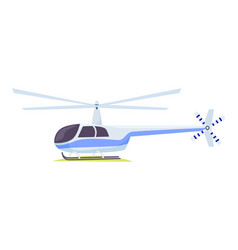 Fast blue and gray helicopter on white background vector