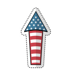 Fireworks usa celebration icon vector