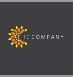 Flower logo leaf ideas design vector