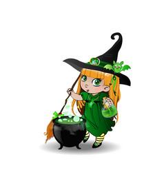 halloween clip art character of little blonde vector image