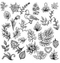 hand drawn pattern with abstract scandinavian vector image