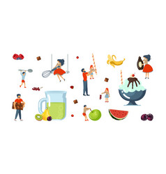 happy family cooking together vector image