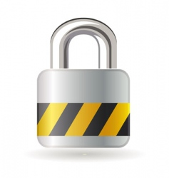 lock isolated on white background vector image