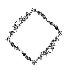 lovely frame border decoration ornament heraldry vector image