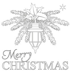 Merry christmas poster with lonely star street vector