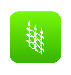 metal fence icon green vector image