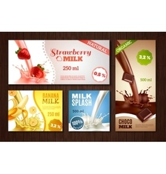 Milk Banners Set vector