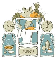 Modern menu vector