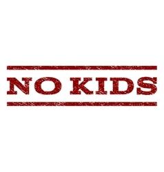 No kids watermark stamp vector