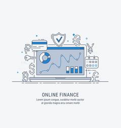 online finance vector image