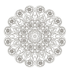 oriental pattern traditional round ornament vector image