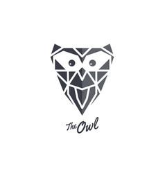 Owl logo sign icon symbol bird art vector