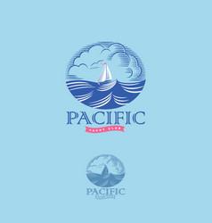 Pacific yacht club logo vector