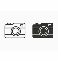 photo icon for graphic and web design vector image