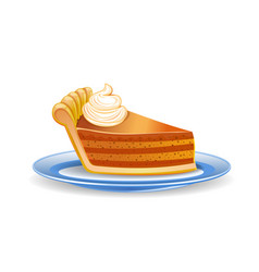 Pumpkin pie slice vector