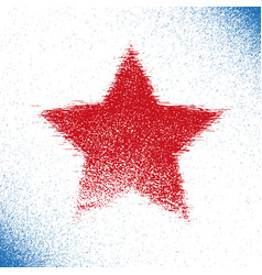 red grunge stars vector image