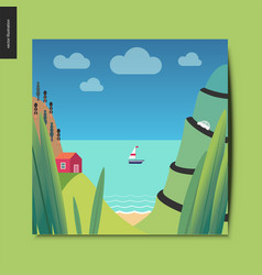 simple things - sea shore vector image