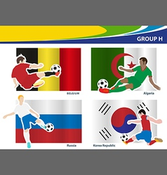 Soccer football players Brazil 2014 group H vector