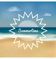 Summertime beach vector