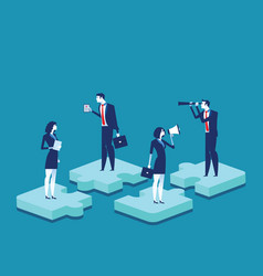 teamwork business person and working concept vector image