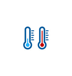 temperature weather and season logo icon design vector image