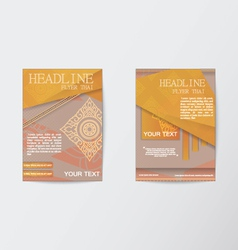 Thailand pattern Flyer design Layout in A4 size vector