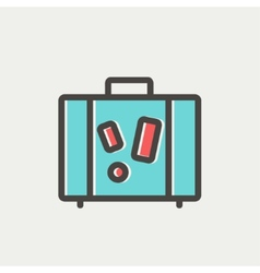 Travel luggage thin line icon vector image
