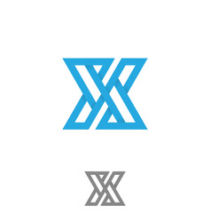 Typography letter x for element design vector