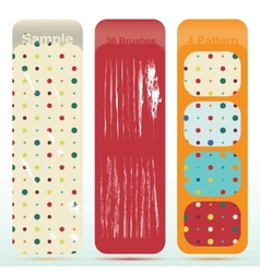 vintage polka dot texture set and old look sratch vector image