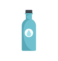 water plastic bottle icon flat style vector image