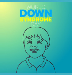 world down syndrome day logo icon design vector image