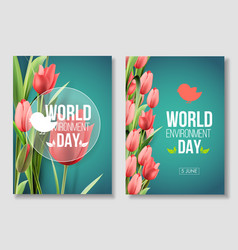 world environment day card banner living coral vector image