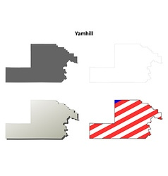 Yamhill Map Icon Set vector