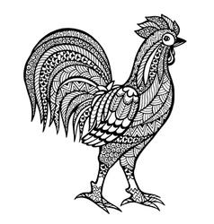 Zentangle stylized cock vector