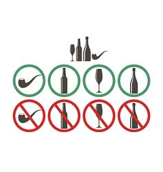Do not drink Do not smoke vector image vector image