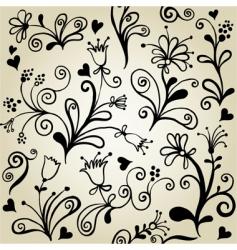 floralwallpaper pattern vector image
