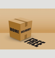home delivery box vector image vector image