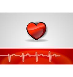 medical cardio heart vector image vector image