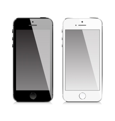 mobile phone similar to iphone style vector image