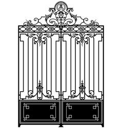 vintage gate vector image vector image