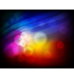 Abstract Design with Neon Lights vector image