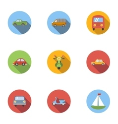 Carriage services icons set flat style vector