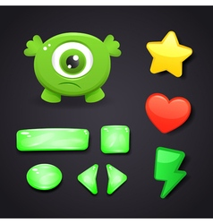Interface icons set for game design vector image vector image